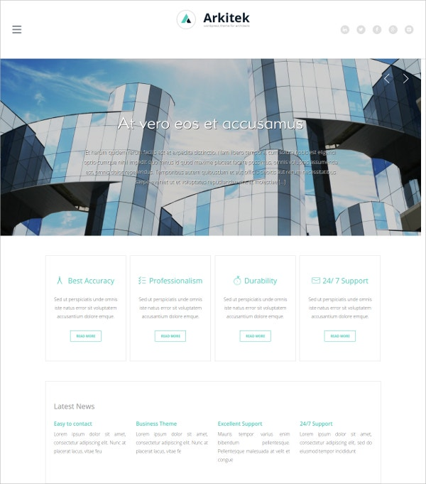 Interior Design Architecture WordPress Website Theme $49
