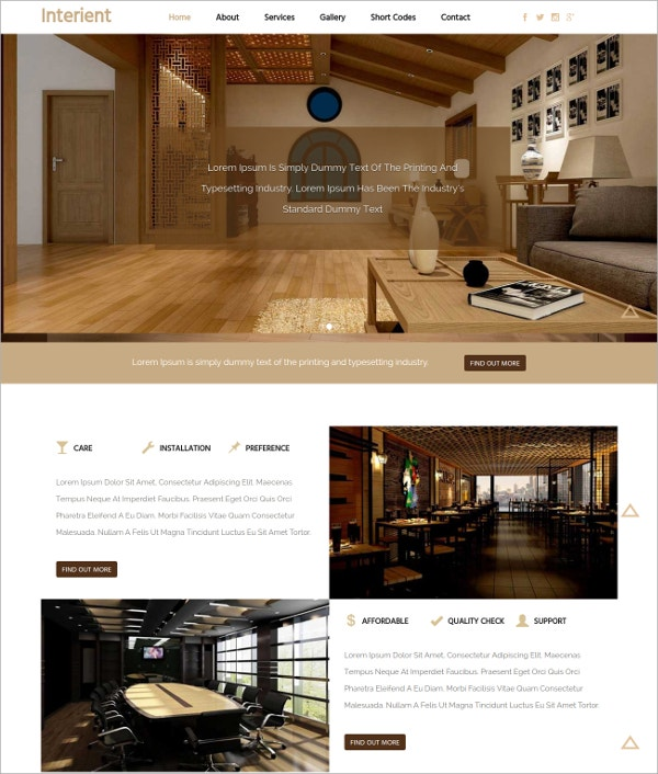 Architects Interior Design Bootstrap Responsive Website Template
