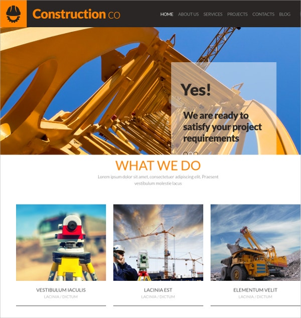 Construction Engineering WordPress Website Theme $39