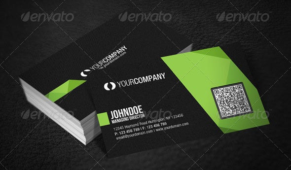 34 best qr code business card examples identity mockups free professional qr code business card reheart Gallery