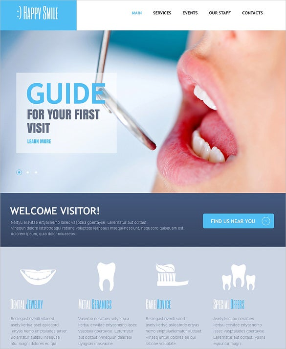dental care drupal website template