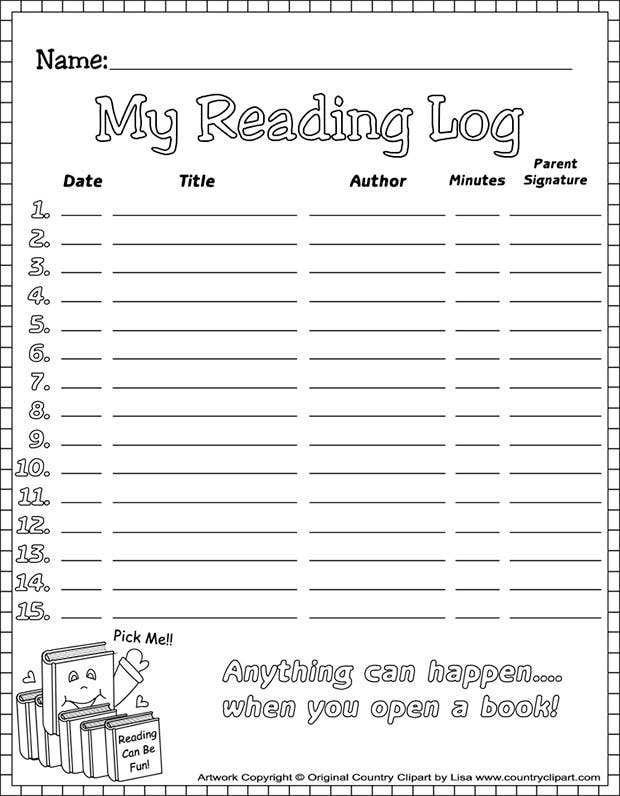 20 Best Reading Log Templates – Weekly Log Template