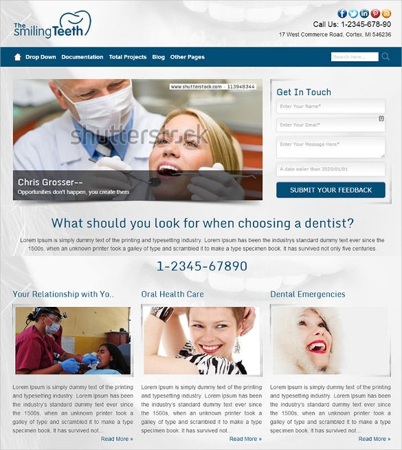 superb dentist wordpress website theme