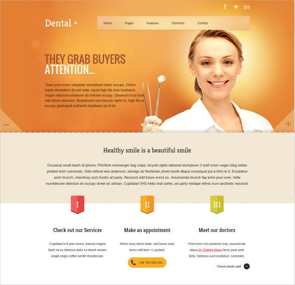dental html website template
