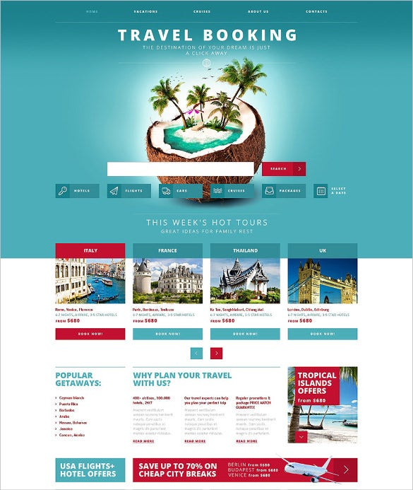 responsive travel website template 75
