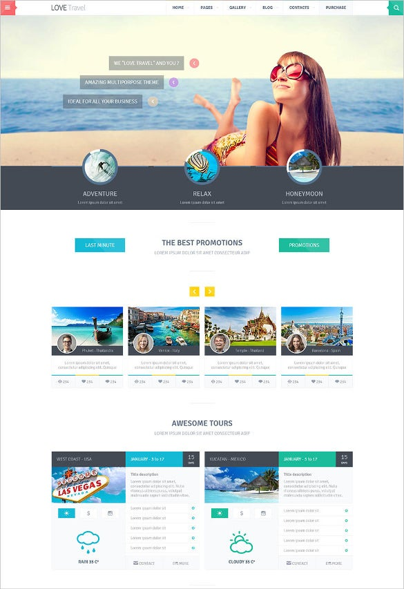 creative travel agency theme html5 template