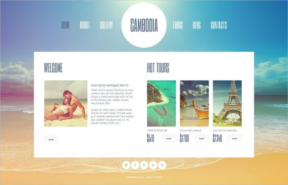 hot tour travel agency website template