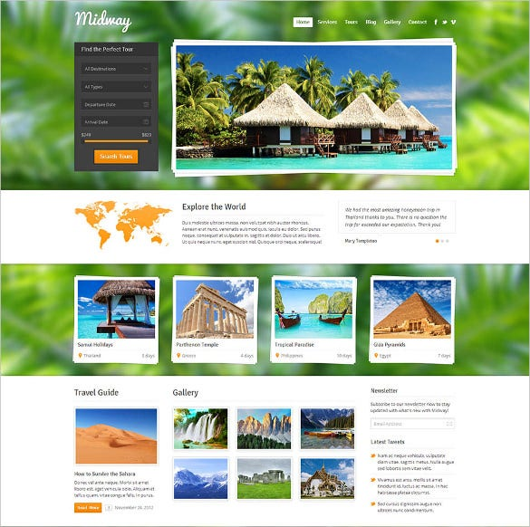 responsive travel wp website theme