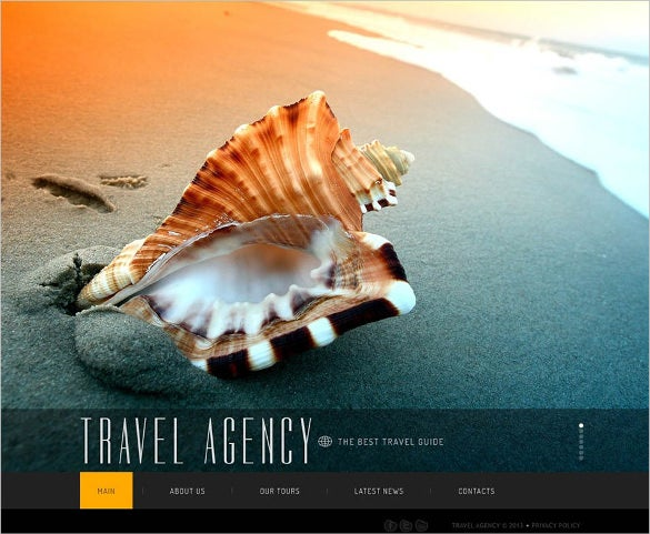 best travel agency guide website template