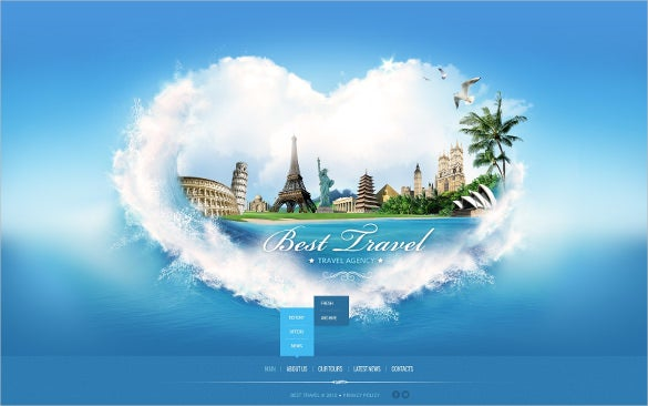 best grand travel agency website template