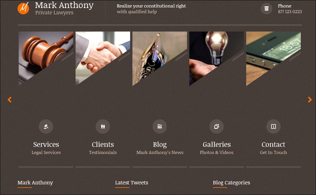 Best Attorney Website Templates Free Premium Templates - Lawyer website template