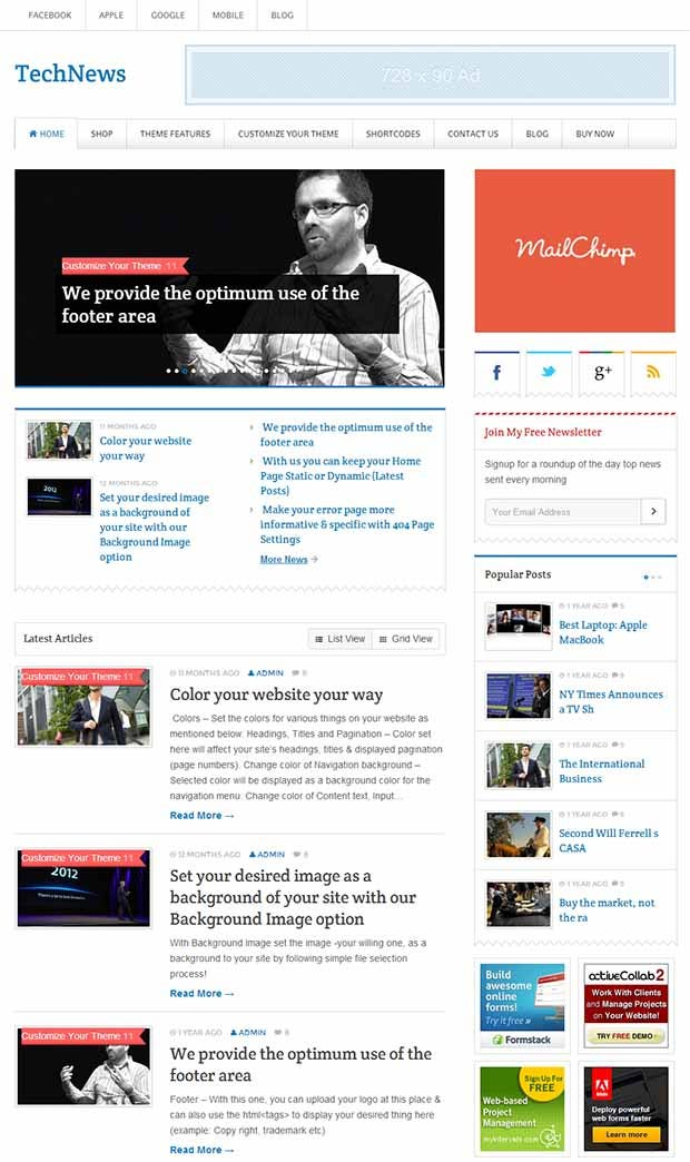 45+ Best Premium News Website Templates | Free & Premium Templates