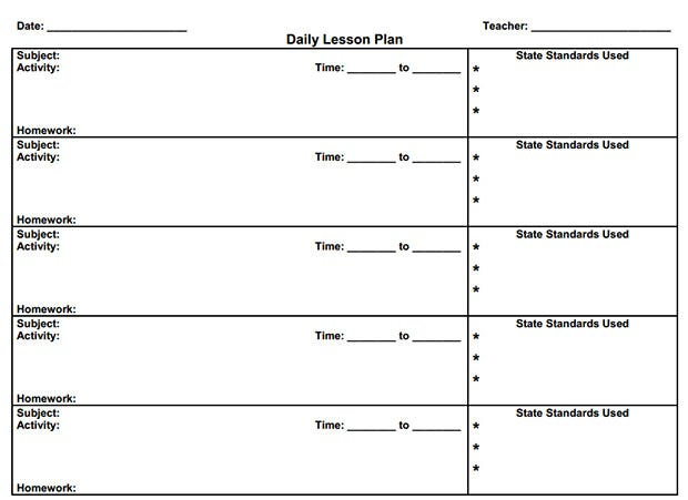 Free Lesson Plan Templates Free Premium Templates - Daily lesson plan template high school