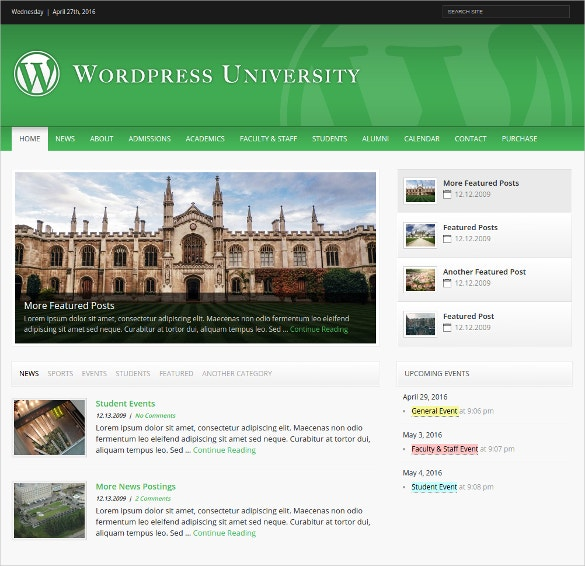 university wordpress theme for colleges 44