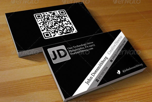 Business card with qr code boatremyeaton business reheart