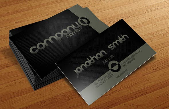 40 excellent black business cards to download free premium business card template friedricerecipe Choice Image