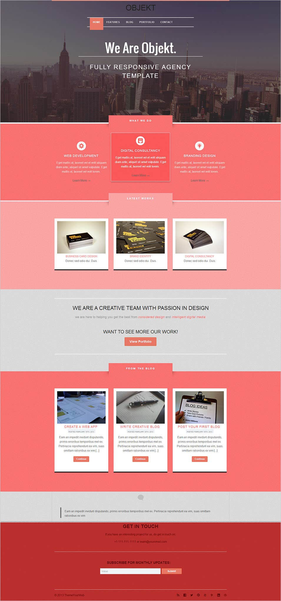 20 Best Flat Design Website Templates | Free & Premium Templates