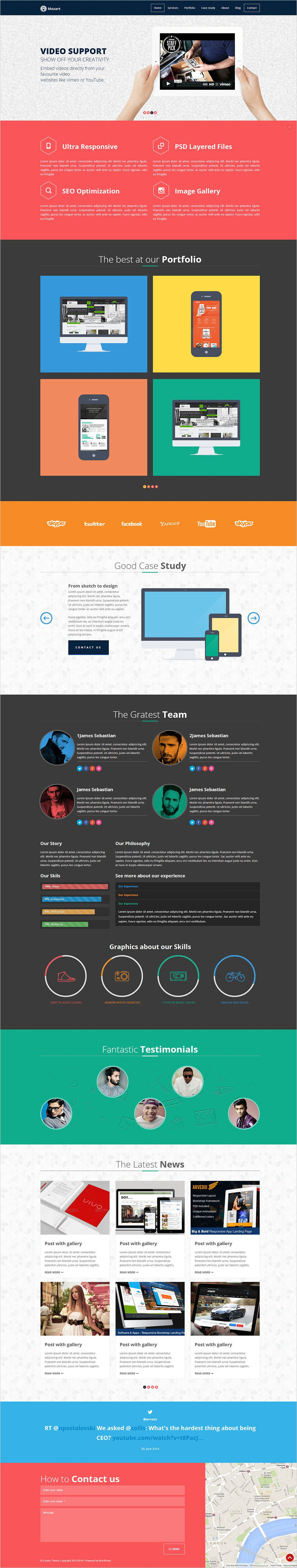 17+ Best Flat Design Website Templates | Free & Premium ...
