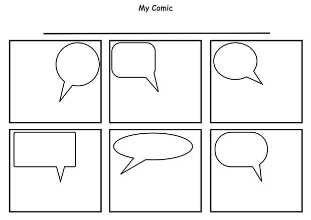 Comic Book Template Pdf Comic strip