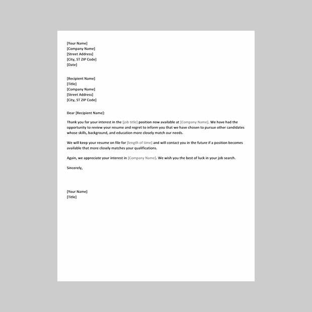 Job Application Letter Template Free Download