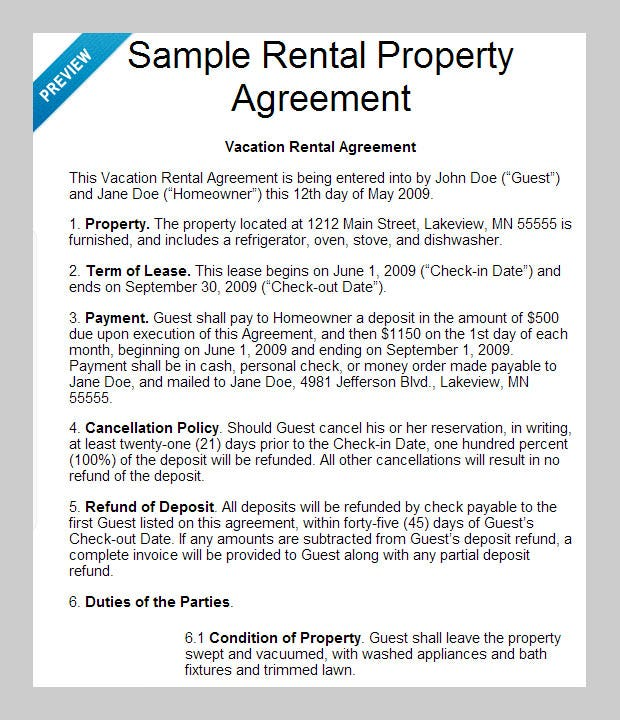 Policy Agreement Template