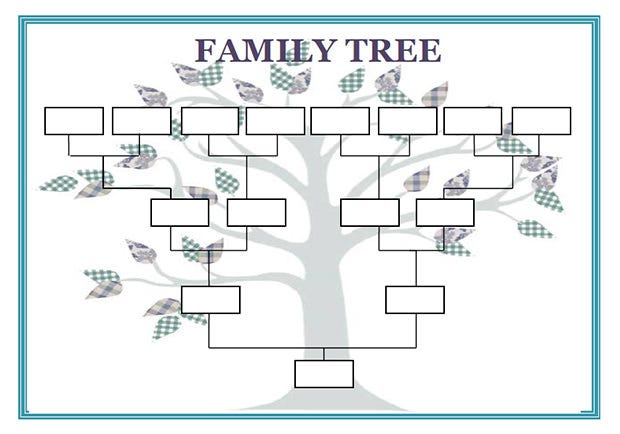 12 Premium Family Tree Template for Free – Blank Family Tree Template
