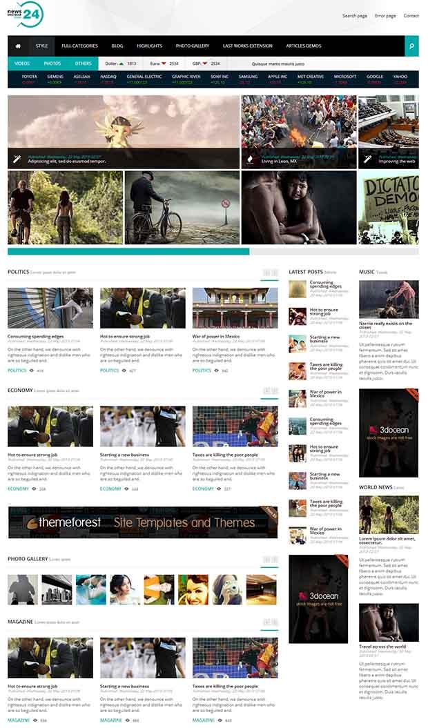 38 Best Premium News Website Templates Free Premium Templates