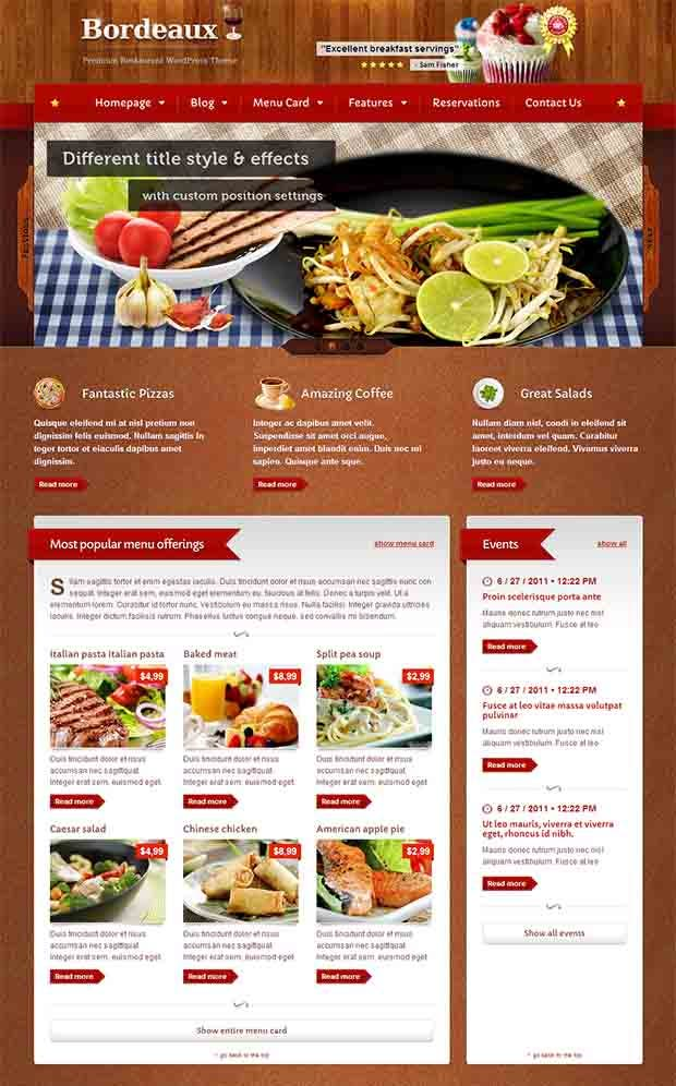 Best premium restaurant website templates free