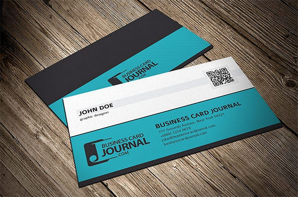 34 best qr code business card examples identity mockups free professional corporate qr code business card template fbccfo Choice Image
