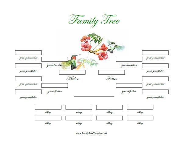 12  premium family tree template for free