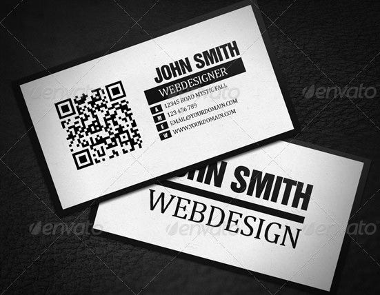 34 best qr code business card examples identity mockups free qr code minimalistic business card colourmoves