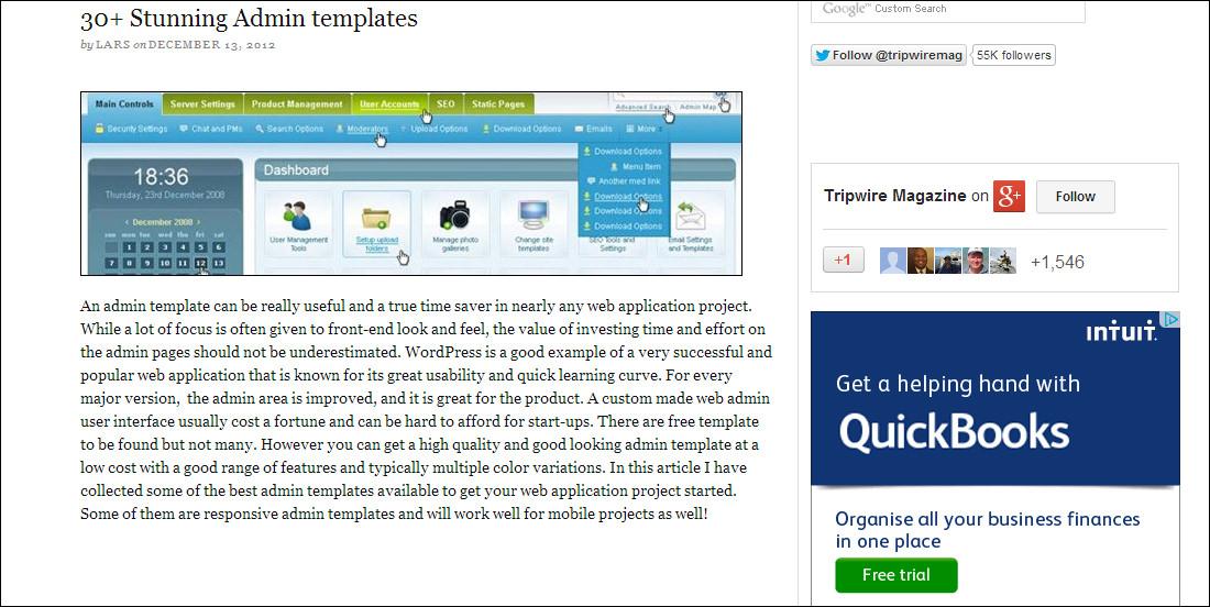 Best CMS Backend Templates | Free & Premium Templates