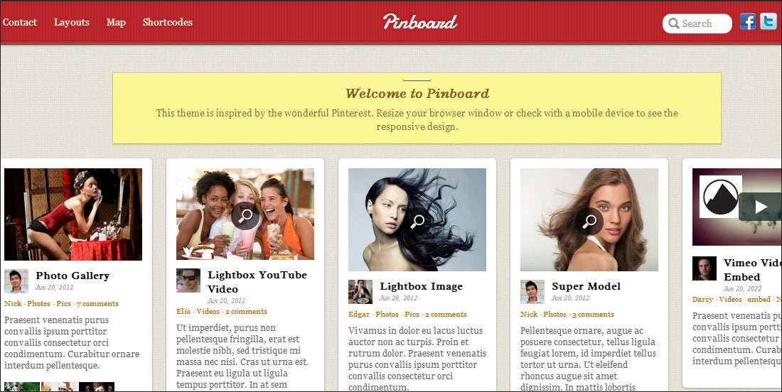 Top 20 Pinterest Style WordPress Templates | Free & Premium