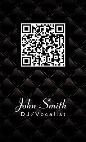 Business cards quilt design gallery card design and card template 34 best qr code business card examples identity mockups free diamond quilt qr code dj music reheart Choice Image