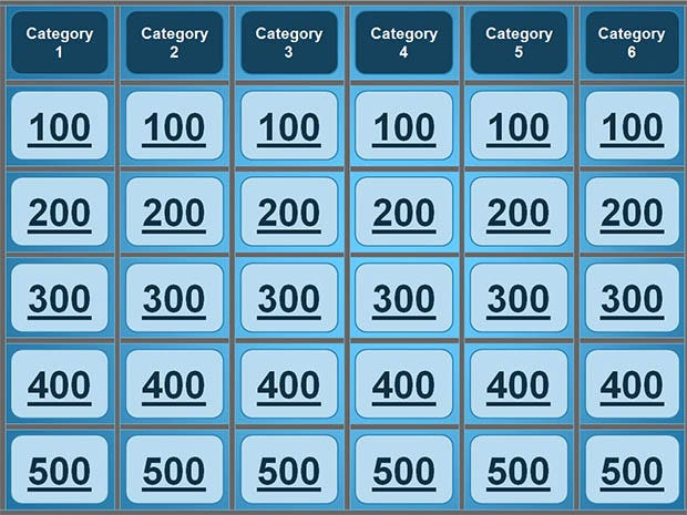 5 best jeopardy templates free premium templates for Jepordy template