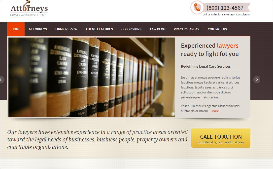 20 Best Attorney Website Templates | Free & Premium Templates