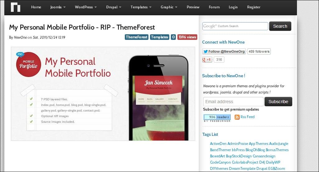 forum website template