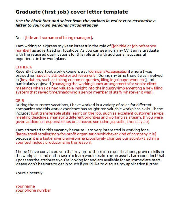 perfect cover letter templates