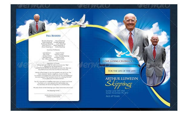 20 Funeral Program Templates Free Word Excel PDF PSD Format – Free Funeral Templates Download