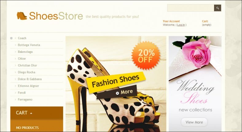 Prestashop Women Shoes