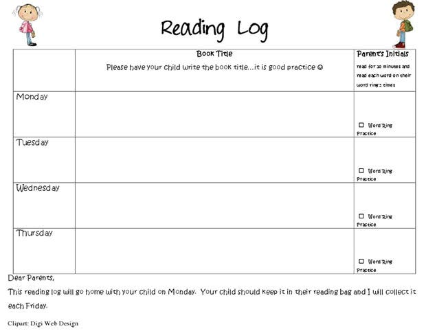 Best Reading Log Templates  Free  Premium Templates