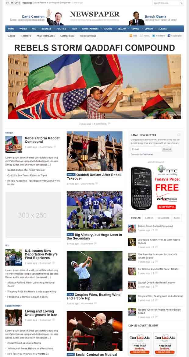 45  best premium news website templates