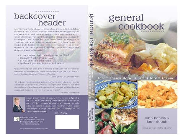 Cookbook Cover Free Template : Book cover templates free sample example format