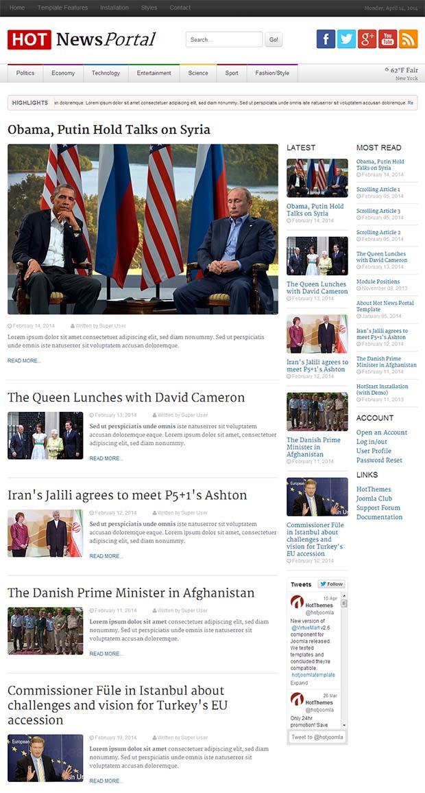 38+ Best Premium News Website Templates | Free & Premium Templates