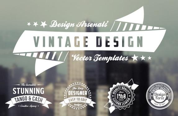 25 retro style logos psd logos free premium templates retro logo badge templates free demo download pronofoot35fo Choice Image