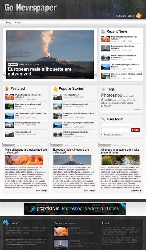 Free News Website Templates 28 Images 45 Best Premium News