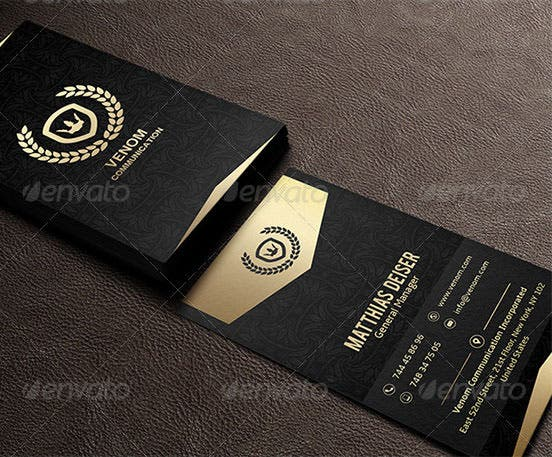 40 excellent black business cards to download free premium gold and black business card fbccfo Image collections