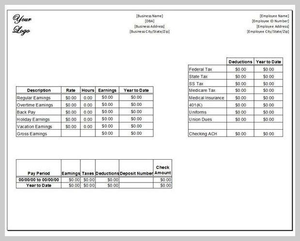 10 Sample Pay cheque Stub Templates for Download Free | Free & Premium