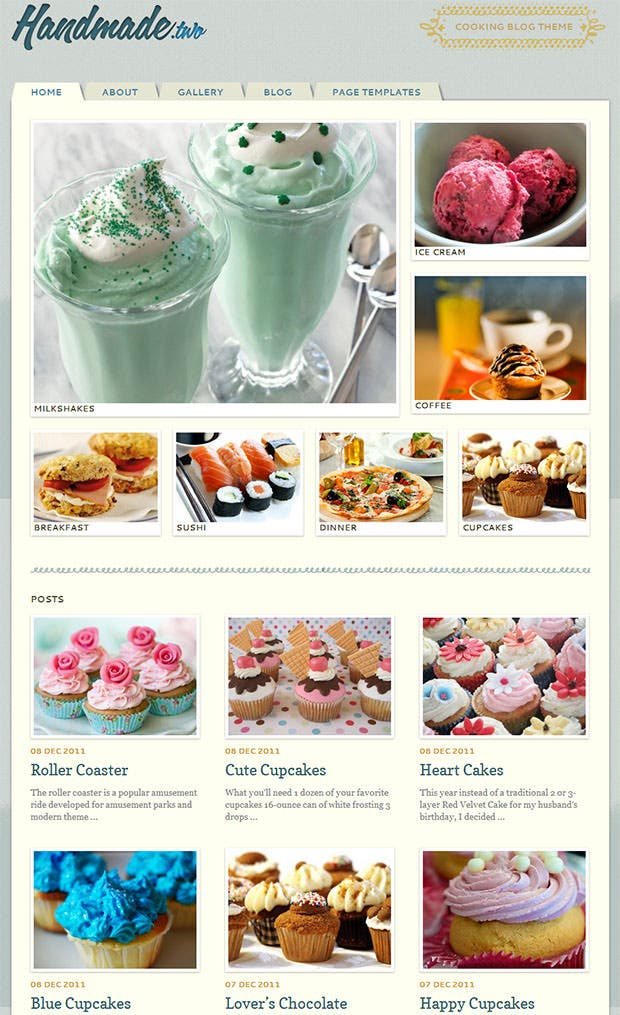 Awesome Ice Cream Website Template Ideas - Example Resume and ...