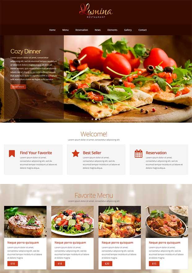 Best premium restaurant website templates free